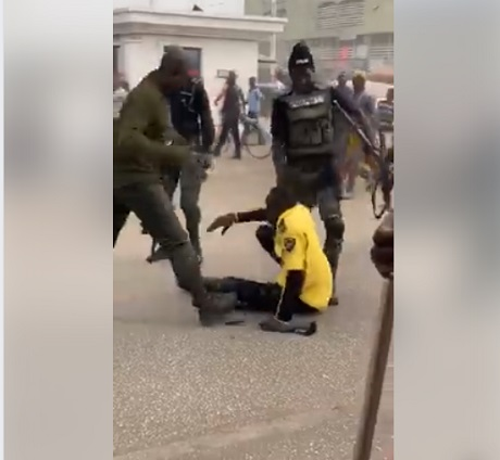 FRSC Official Beaten Up And Dragged On The Road By Armed Policemen In Kano (Video) 1