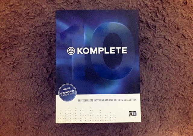 Native Instruments KOMPLETE 10のパッケージ写真