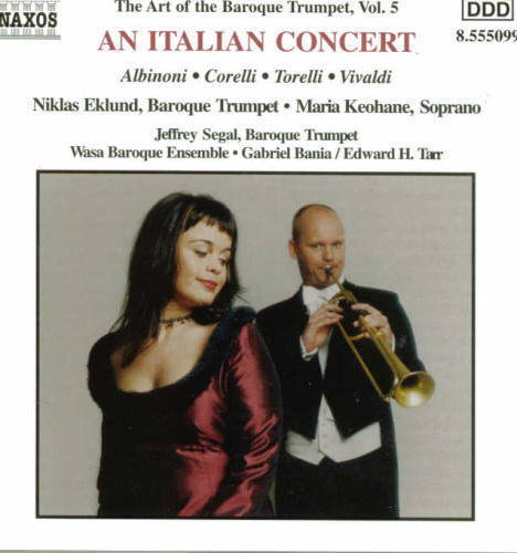 """An Italian Concert""Niklas Edlund, Maria KeohaneWasa BaroqueNaxos 8.555099"