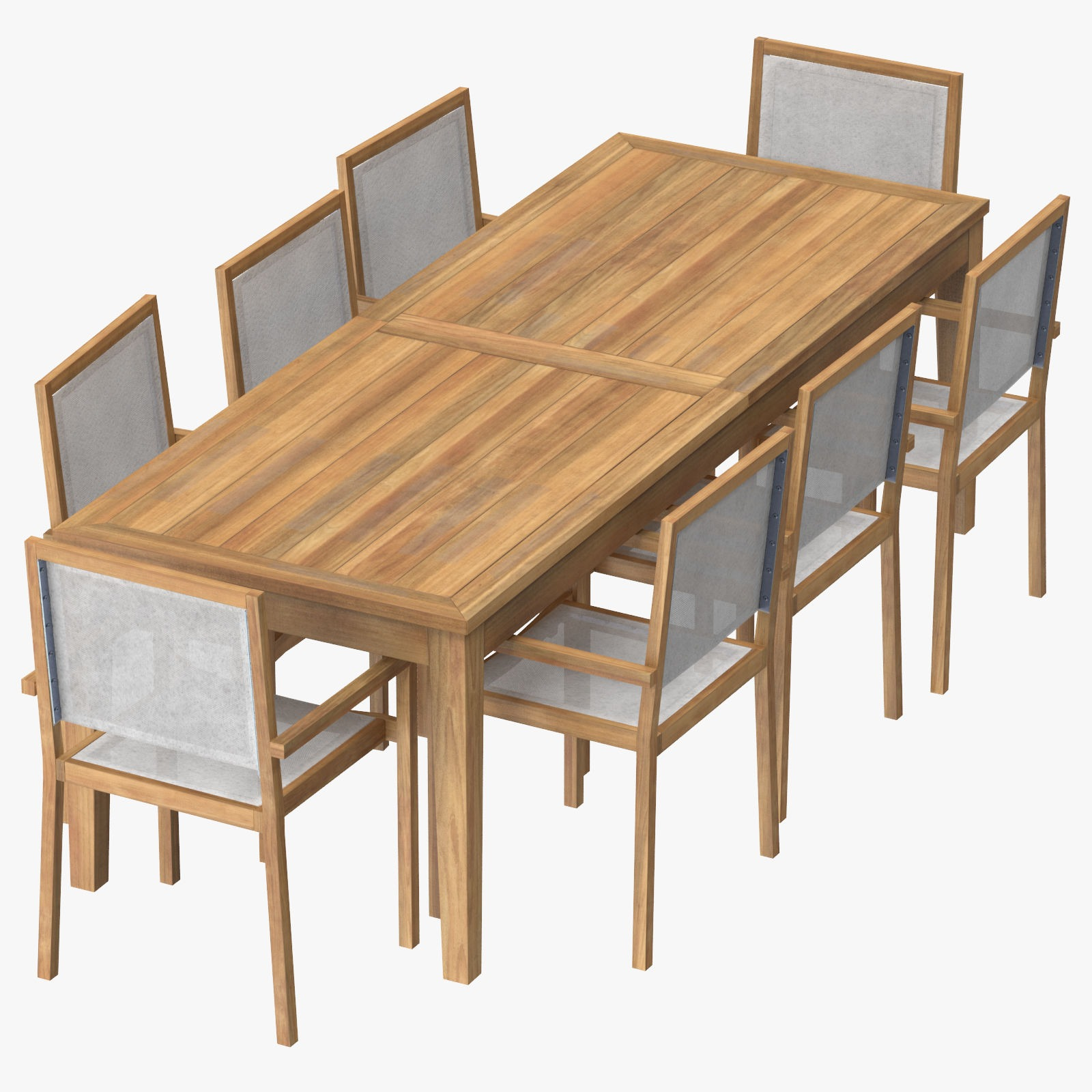 patio dining table rectangle and 8 chairs