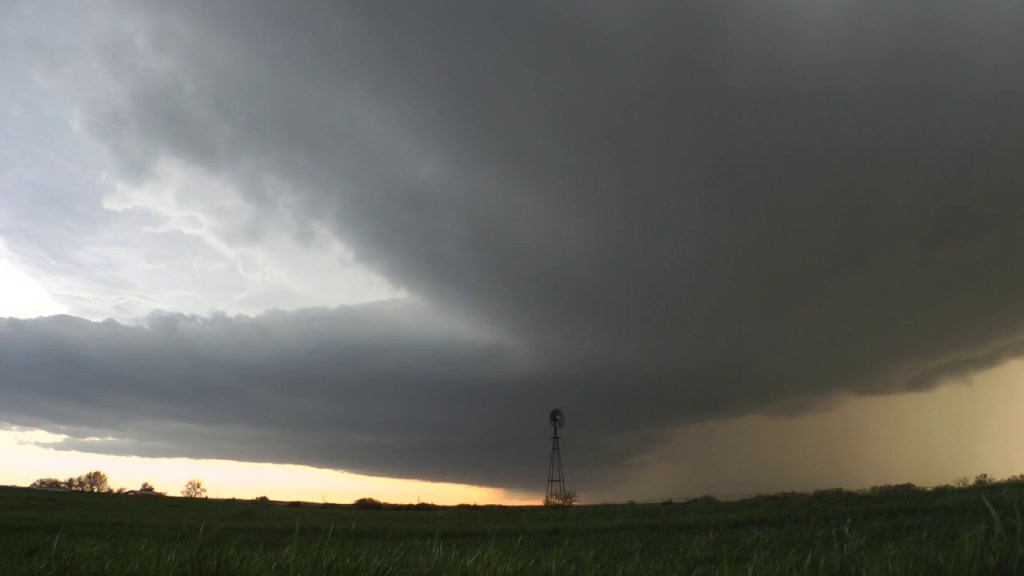 March 27, 2012 Storm Chase | Lightning Strikes A Little Too Close