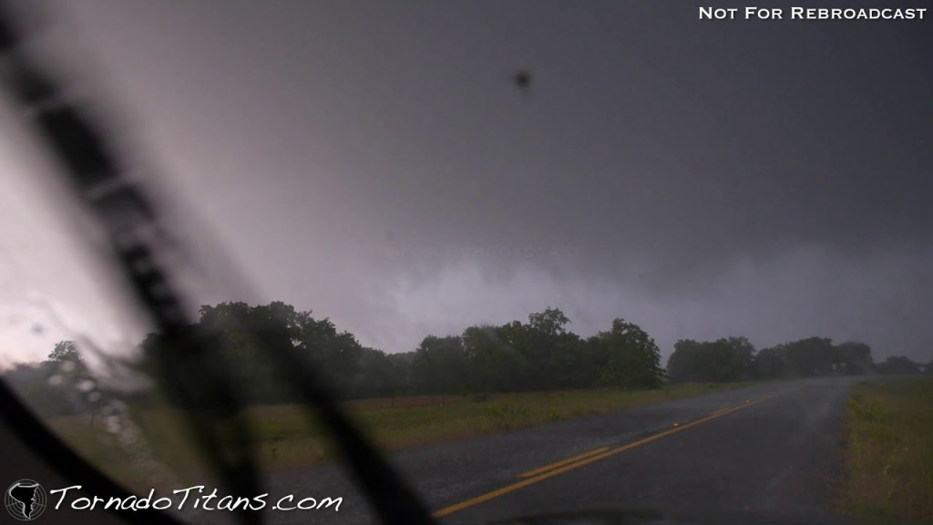 May 15, 2013 Storm Chase | Tornado in North Texas With Trees Galore