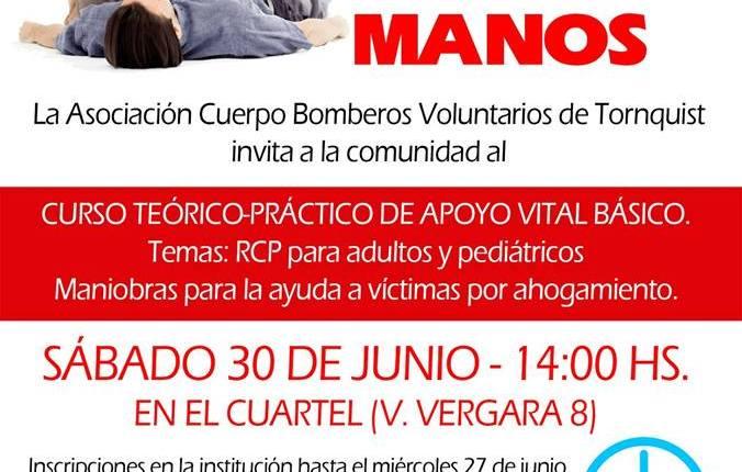 Tornquist – «Curso Teórico Práctico Vital Básico» de los Bomberos Voluntarios