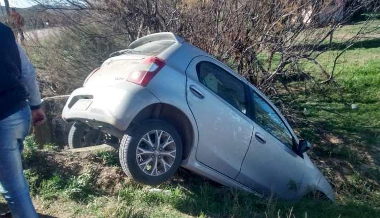 Saldungaray – Un hombre se despistó esta mañana, en el acceso a la localidad