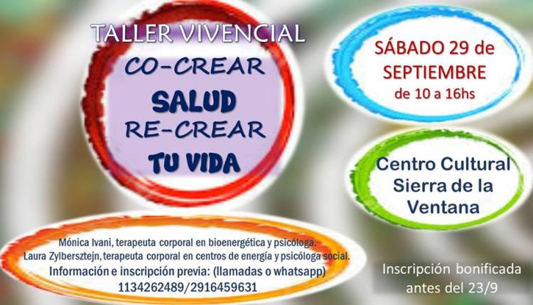 """Sierra de la Ventana – """"Taller Vivencial"""" en el Centro Cultural"""