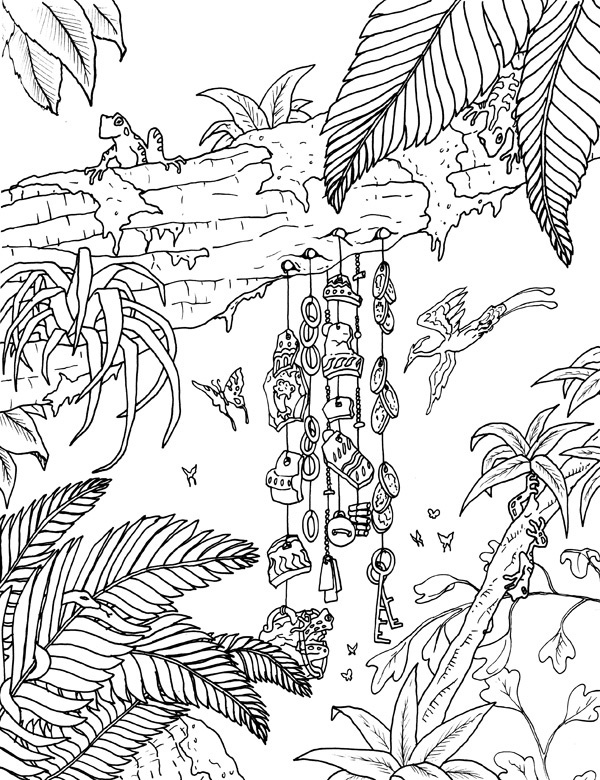 Pin Rainforest Frog Coloring Pages Pictures on Pinterest