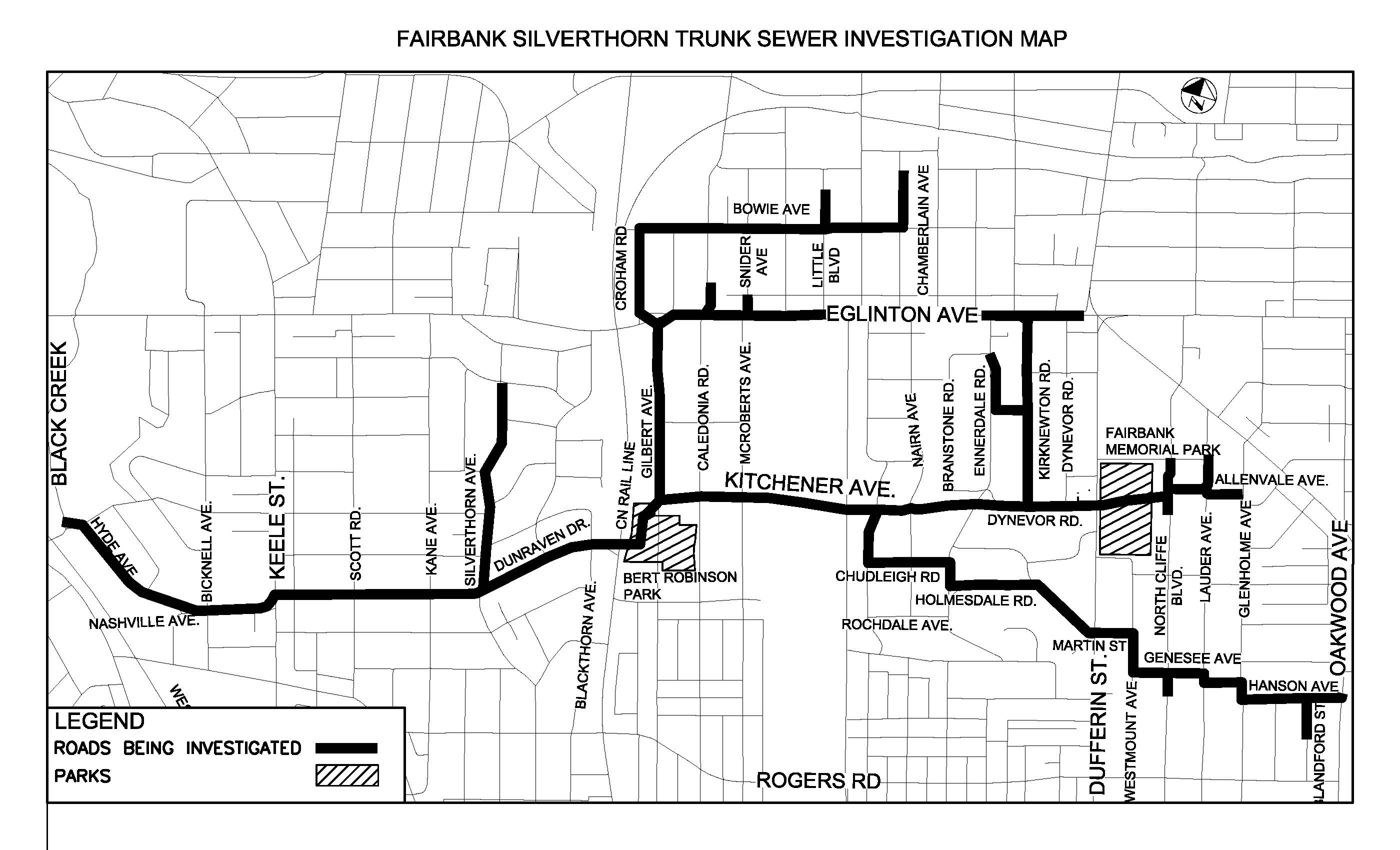 Fairbank Silverthorn Storm Trunk Sewer System City Of