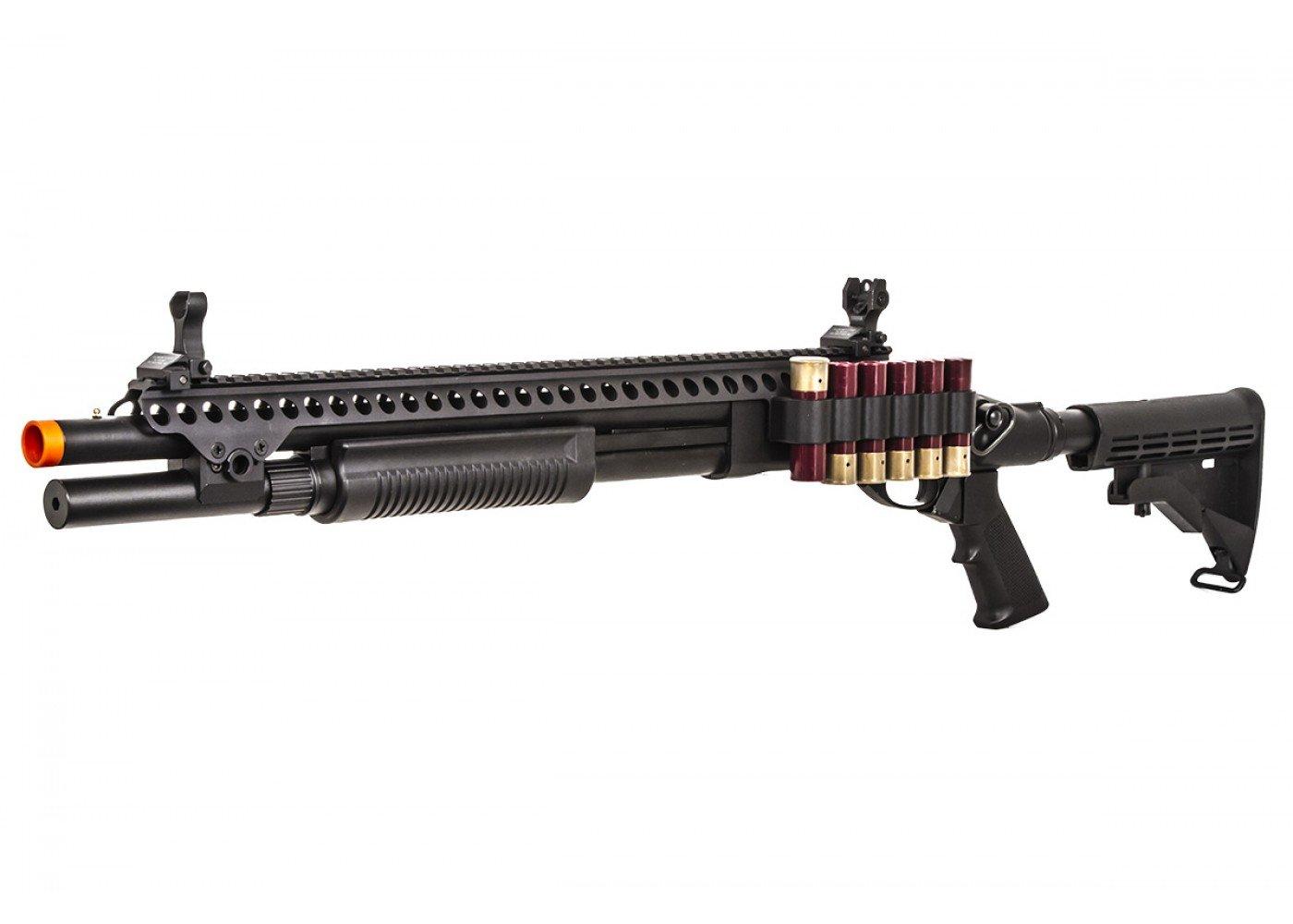 jag arms scattergun sp gas shotgun airsoft gun black