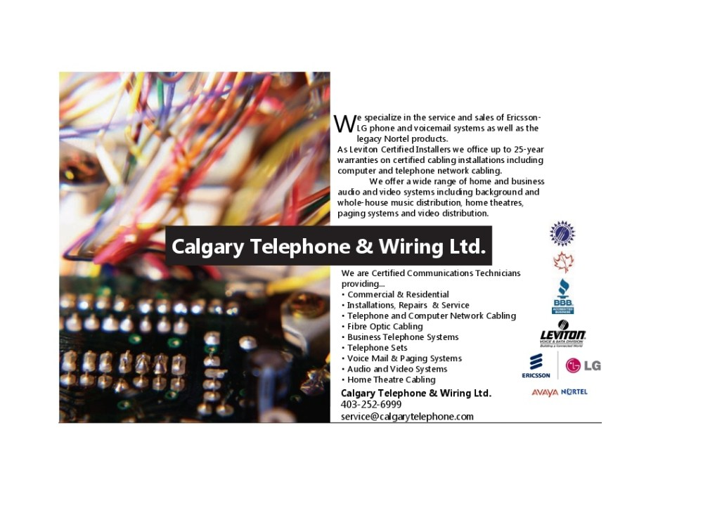 medium resolution of more about calgary telephone wiring ltd