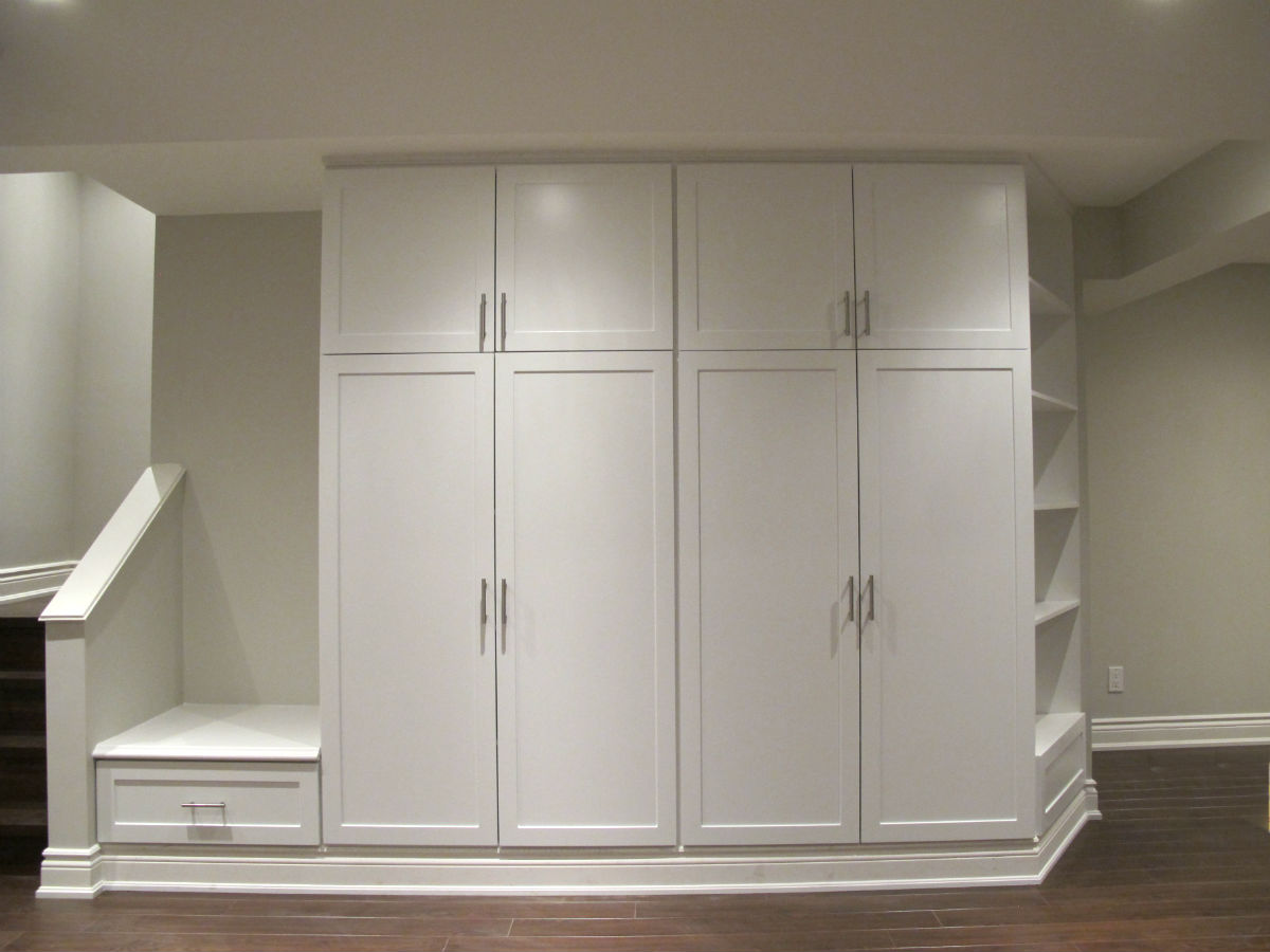 Basement Storage  Toronto Custom Concepts  Kitchens Bathrooms Wall Units Basements Renovations