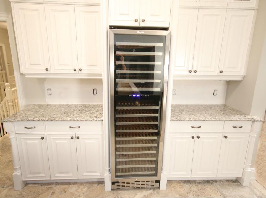 kitchen wall shelving units outdoor patio built-in wine fridge | toronto custom concepts ...