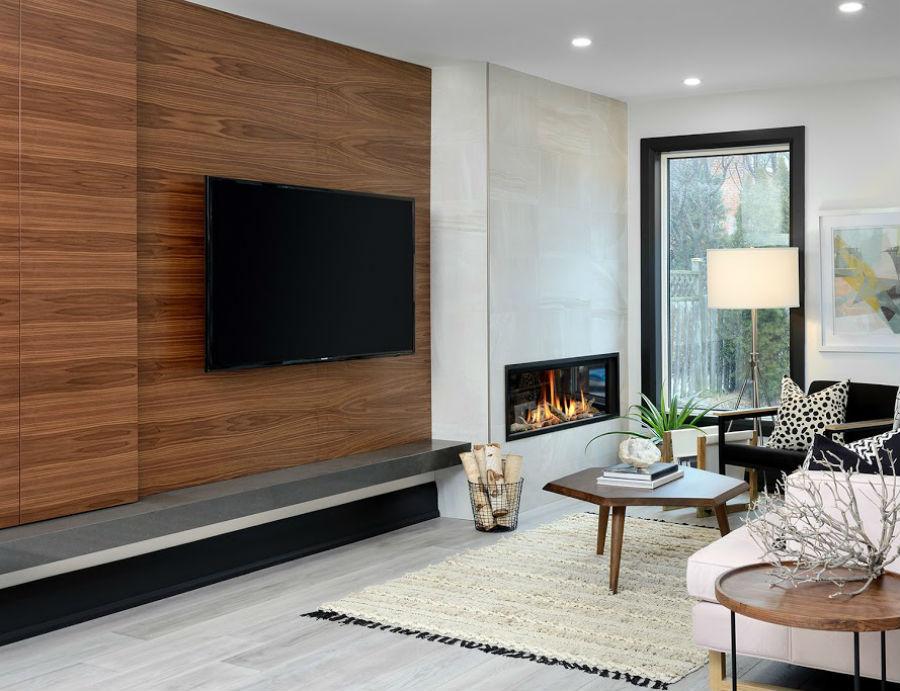 Oakville Modern Wallunit Fireplace