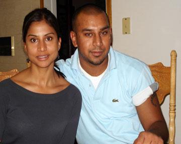 Jajeevan Ratnasingham with his sister Sujitha Ratnasingham
