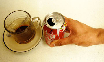 procrastinators pick coke or coffee