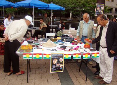 Kurdish cultural items were sold at the festival to raise funds for the organization.