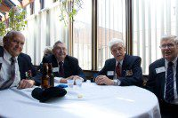 Second World War veterans reminisce over some beers. (Amanda Ly/Toronto Observer)
