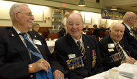 With more than a century behind him, Clifford B. Guest was the oldest veteran in attendance. (Amanda Ly/Toronto Observer)