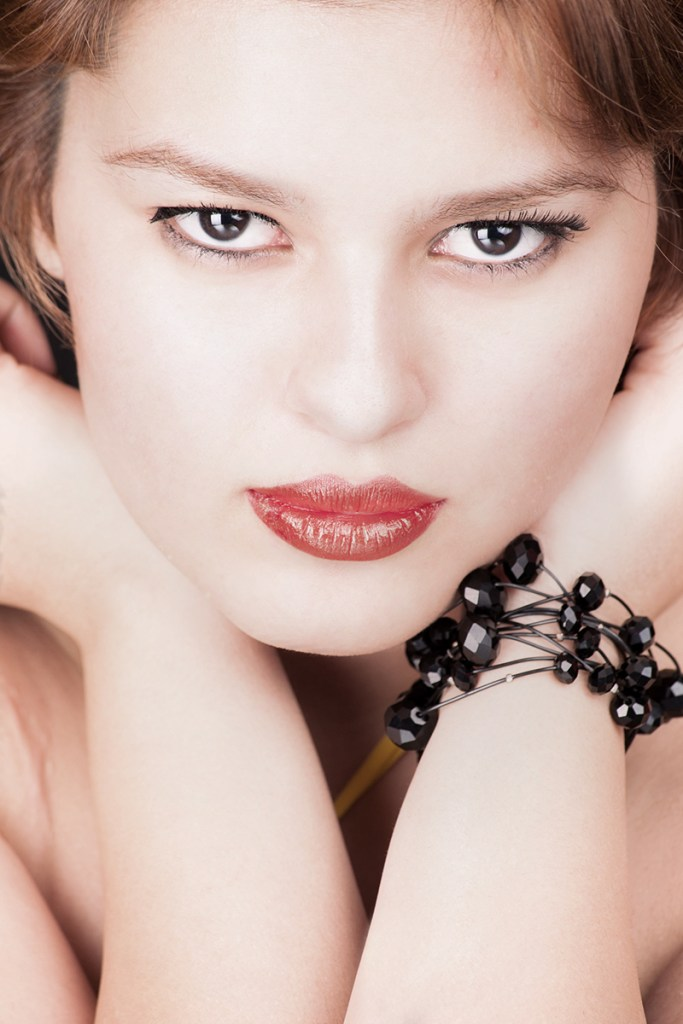 Headshot portrait of female