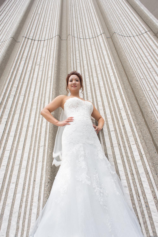 Bride at Toronto city Hall