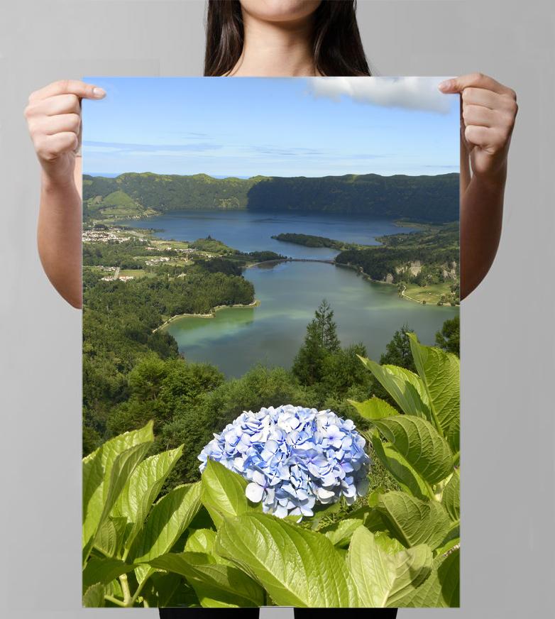 girl holding poster