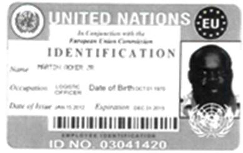 Akohomen Ighedoise, 41, forged United Nations identification. Police believe there may be other victims