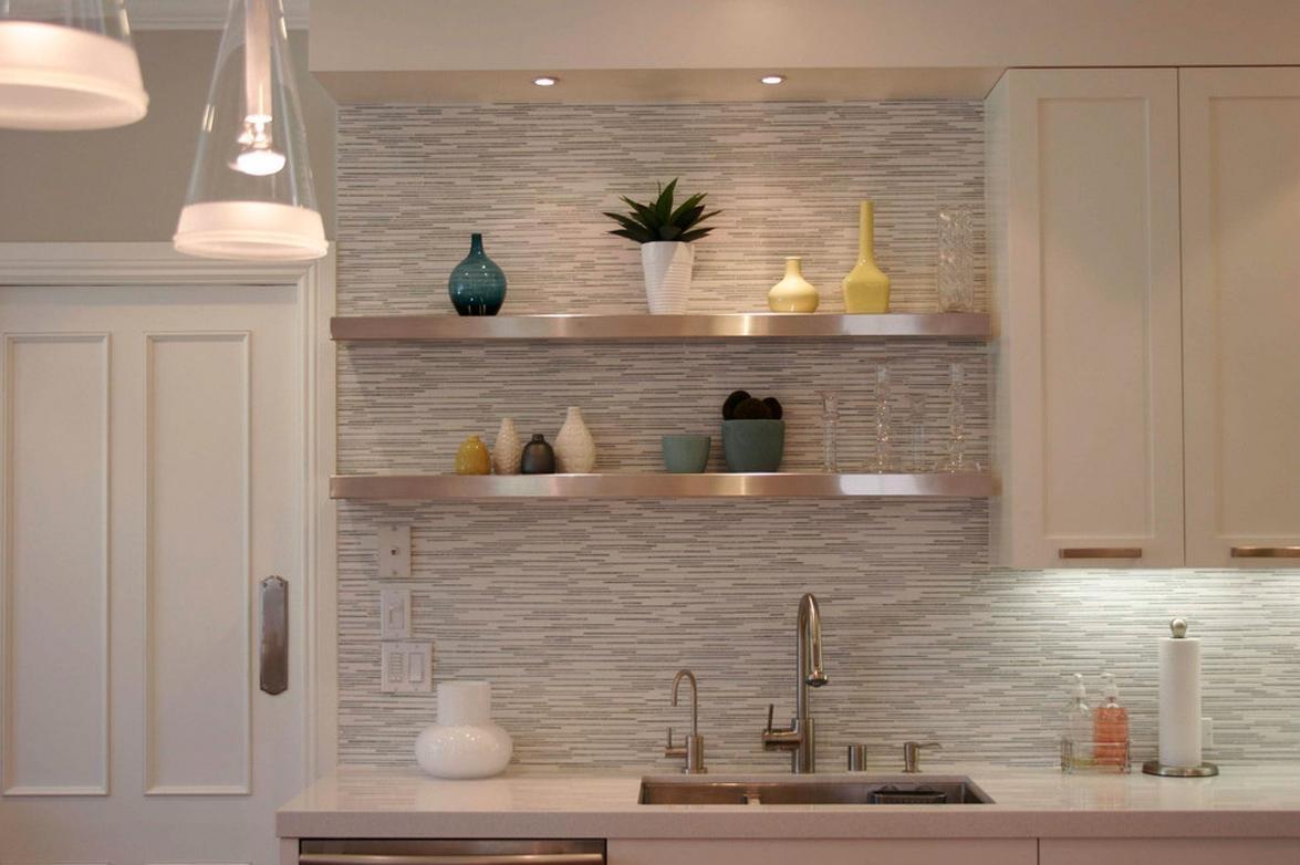 hanging kitchen shelves mosaic awesome ikea hack of the week sexy metallic floating