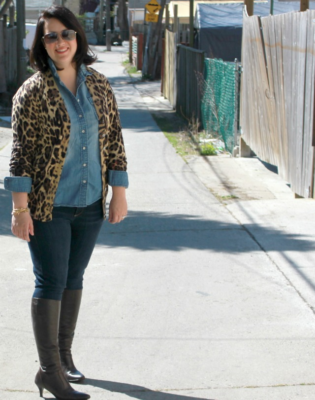 0869f2331d leopard print sweater cardigan Pin this image on Pinterest