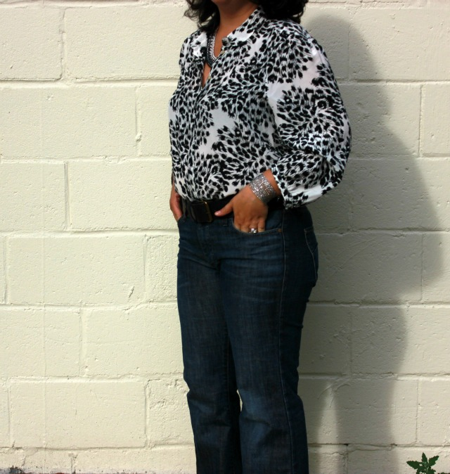 madewell blouse denim