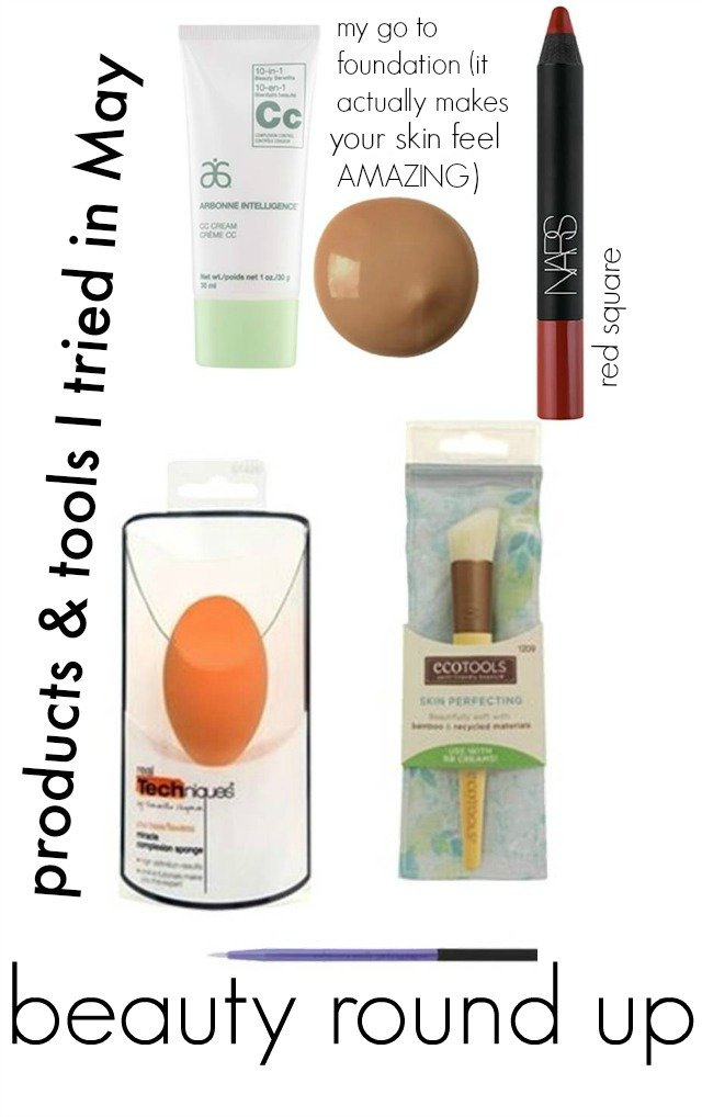 beauty, makeup, arbonne cc cream, does cc cream work, makeup sponge, cc cream brush, nars red square
