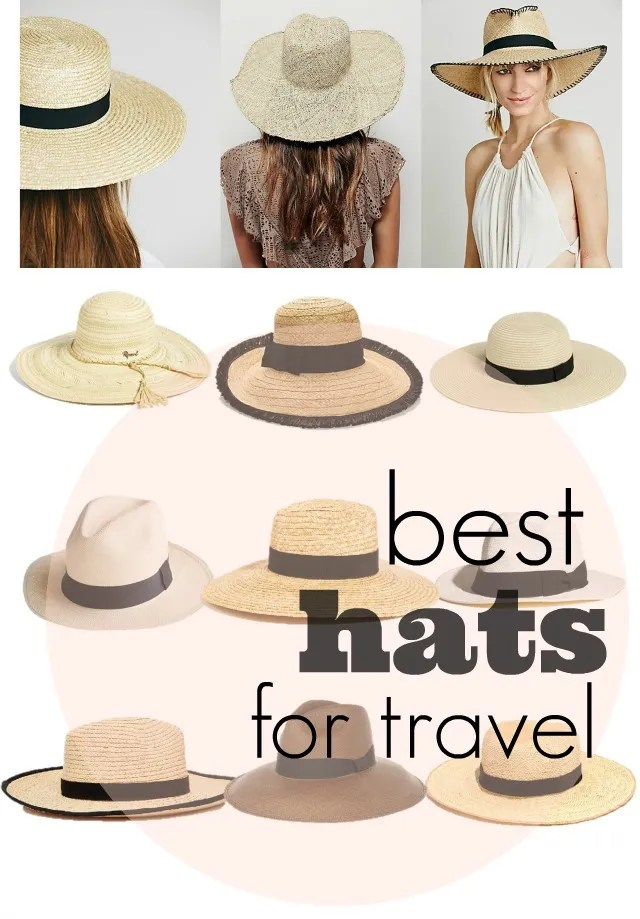 how to pack a hat, best hats for travel