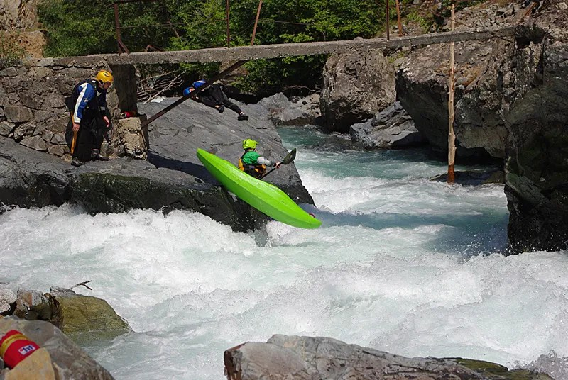 One of the harder rapids in upper Barhal – portage is easy and the photoraphers like it.