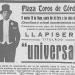 1935: Llapisera en Córdoba
