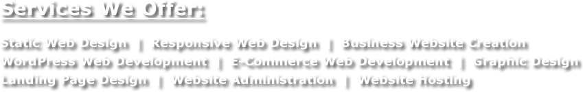 Web Services Offered