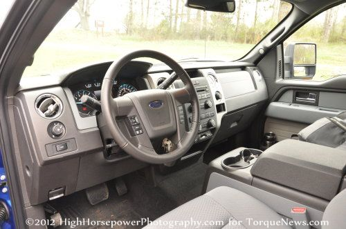 The Front Interior Of The 2012 Ford F150 4x4 XLT EcoBoost