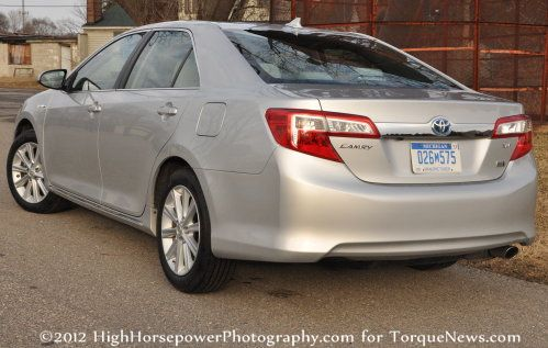 The Back End Of The 2012 Toyota Camry Hybrid Xle Torque News