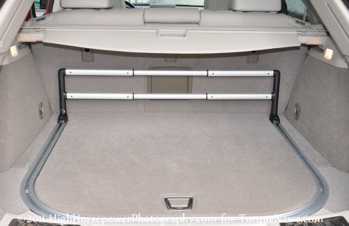 The Rear Cargo Area Of The 2011 Cadillac Srx Turbo Awd
