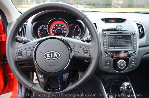 The Dash Of The 2013 Kia Forte Koup SX Torque News