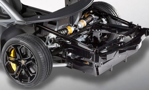 An Up Close Look At The Suspension Of The Lamborghini