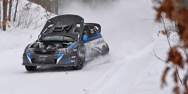 Rally Car Wallpaper Snow 2014 Subaru Wrx Sti Leads Sno Drift Despite Big