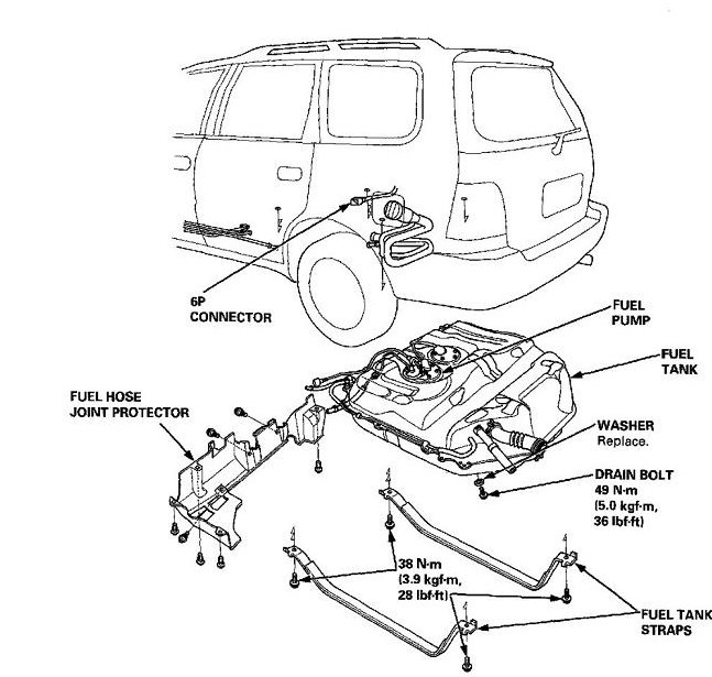 2004 Honda Odyssey Fuel Filter Location