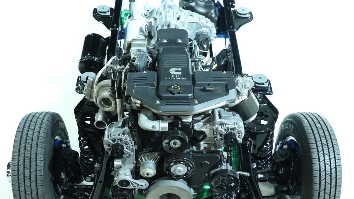 hight resolution of details on the 2019 ram cummins engine with 1000 lb ft of torque