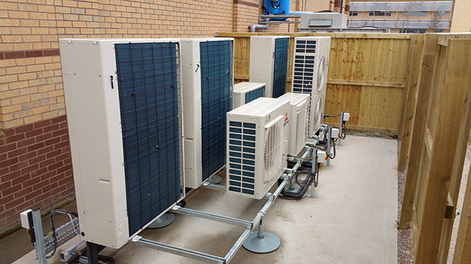 Air conditioning installation by Torr Engineering at Yorkshire Water's Rocc building Bradford