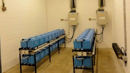 1 of 2 small battery rooms that provide an uninterrupted power supply to the VPI substation.