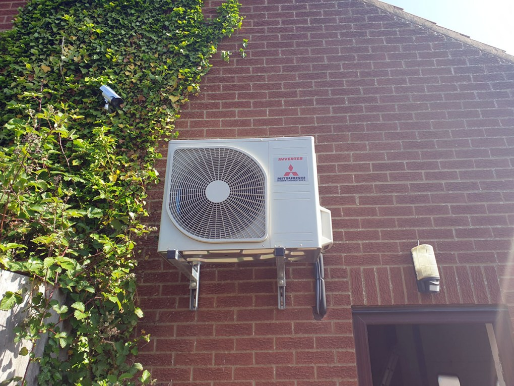 City of Hull Brass Band air conditioning outdoor condenser unit