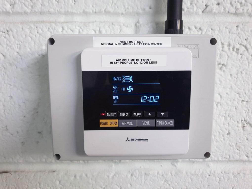 Th Mitsubishi SAF ventilation system remote control