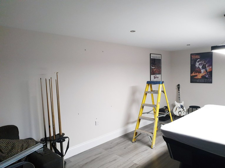 Inside the Man Cave before installation