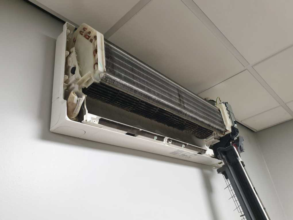 Wall Mount air conditioning unit stripped down