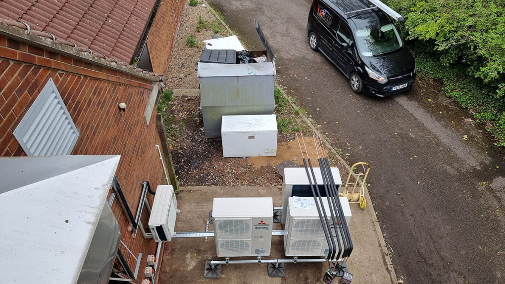 Birds eye view of the condensers