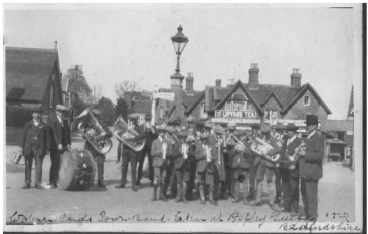 Woburn Sands Band at Aspley Guise Square in1927