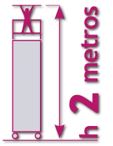 torre móvil de 2 metros